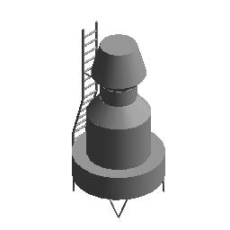 逆流冷却塔 - 圆形