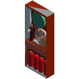 普通消火栓箱(明装)