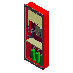 P-带灭火器组合式消火栓箱(240,三具灭火器)
