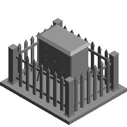 三级配电箱待围栏